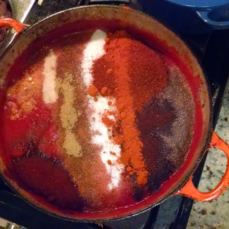 Making some chili